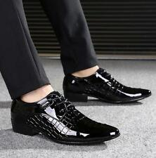Fashion Mens Oxfords patent leather lace up Wedding Business Dress Formal Shoes