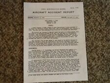 AIRCRAFT ACCIDENT REPORT........BUDDY HOLLY, RITCHIE VALENS, BIG BOPPER ACCIDENT