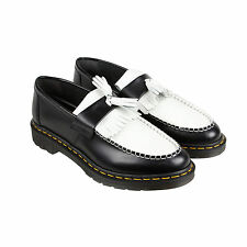 Dr. Martens Adrian Womens Black Leather Casual Dress Slip On Oxfords Shoes