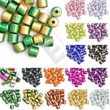 20/25pcs Acrylic Cylinder Miracle Beads Jewelry Findings 8.5x8.5x8mm/10x8x8mm