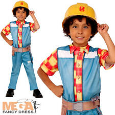 Bob the Builder Boys Costume TV Character Cartoon Childs Kids Fancy Dress Outfit