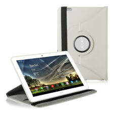 360° SYNTHETIC LEATHER CASE FOR ACER ICONIA TAB 10 (A3-A20) WHITE ROTATION COVER