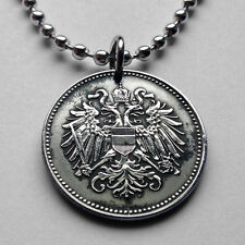Austria 20 heller coin pendant double headed Austro Hungarian EAGLE Wien n000732