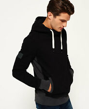 New Mens Superdry Surplus Slouch Hoodie Black