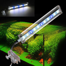 Aquarium Fish Tank LED Clip on White Blue Light Bulb Lamp Flexible Arm 2 Mode