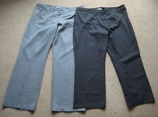 New No Tags Ladies M&S Pinstripe Trousers Plus Size 20 Dark or Light Grey