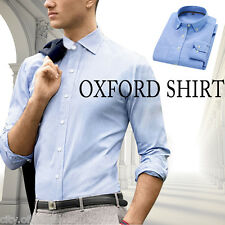 Business Mens Luxury Buttondown Long Sleeve Casual Collared Dress Shirts Tops