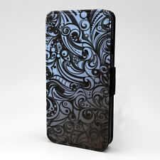 Swirls Print Design Pattern Flip Case Cover For Apple iPhone - P1201