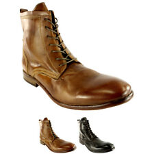 Mens H By Hudson Swathmore Leather Lace Up Smart Ankle Boots Shoes New All Sizes