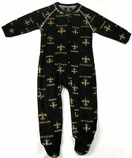 New Orleans Saints Infant Coverall NFL Football Baby Full Footed Sleeper Pajamas