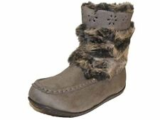 Girls Goody2shoes MicroSuede Faux Fur And Belt Warm Winter Snugg Boot Grey