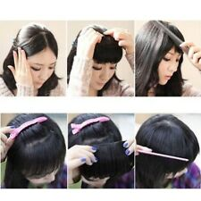 Natural Clip On Clip In Front Hair Bang Fringe Hair Extension Straight one piece