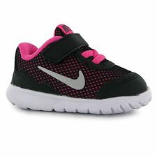 Nike Flex Experience 4 Trainers Infant Girls Blk/Silv/Pink Sneakers Sports Shoes