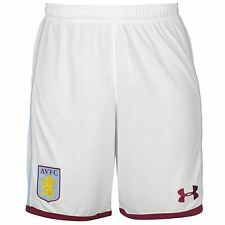 Under Armour Aston Villa FC Home Shorts 2016 2017 Mens White Football Soccer