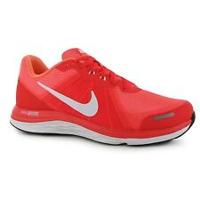 Nike Dual Fusion X2 Running Shoes Womens Red/White Run Fitness Trainers Sneakers