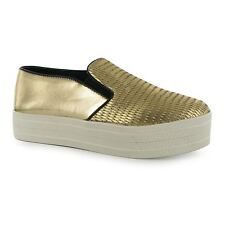 Steve Madden Buhba Fashion Trainers Womens Gold Casual Fashion Sneakers Shoes