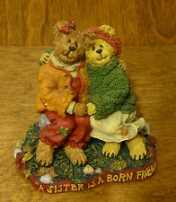 Boyds Bearstones #228409 DIANE and JOANIE...SISTERS FOREVER, 2nd Ed, NEW/Box