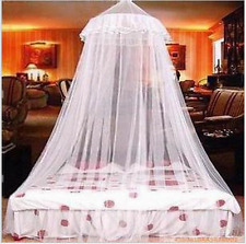 Canopy Bed Curtain Dome Fly Midges Insect Cot Elegant Lace Stopping Mosquito Net