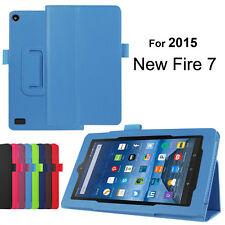 """Magnetic Leather Folio Case Cover Stand For Amazon Kindle Fire HD 7"""" 2015 Tablet"""