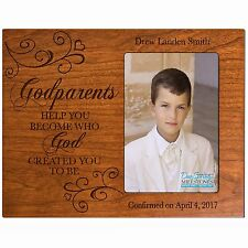 Personalized Baptism Photo Frame Holds 4x6 Picture