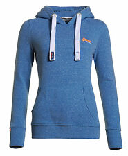 New Womens Superdry Orange Label Primary Hoodie Marina Blue Snowy