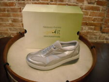 Joy Mangano GetFit Grey Slip-On Fitness Tennis Shoes by Grasshoppers NEW