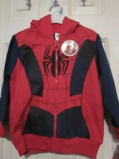 NWT MARVEL'S ULTIMATE SPIDER-MAN Boy's Long Sleeve Zip Red Hoodie Size 2T or 3T