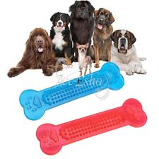 Pet Dog Toy Funny Puppy Chew Bone Shape Squeaker Squeaky Plush Play Sound Toys