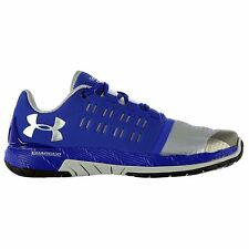 Under Armour Charged Core Running Shoes Mens Blue/Silv Sports Trainers Sneakers
