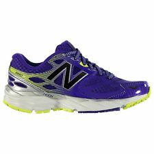 New Balance W680 v3 Running Shoes Womens Purp/Lime Trainers Sneakers Sports Shoe