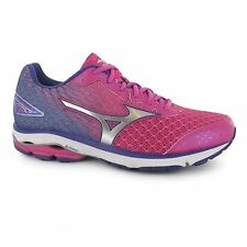 Mizuno Wave Rider 19 Running Shoes Womens Purp/Sil Trainers Sneakers Sports Shoe