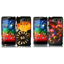 For Motorola Droid Razr HD XT926 Snap-On Design Rubberized Hard Phone Case Cover