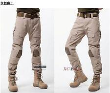 Mens Army Knee Pad Trousers Outdoor Overall Military Combat camo Pants 28-40