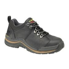 DR MARTENS WORK SAFETY BLACK LEATHER SHOES AIR SOLE STEEL TOE CAP MENS TRAINERS