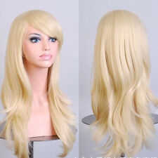 "Free Ship New Womens 28 "" Long Big Wavy Wig Hair Heat Resistant Cosplay Wigs JF4"