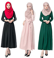 Kaftan Jilbab Women Dress Muslim Islamic Abaya Long Sleeve Cocktail Maxi Clothes