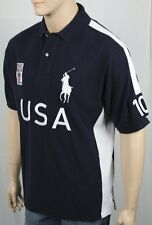 Ralph Lauren Navy Blue Custom Fit USA Big Pony Polo NWT