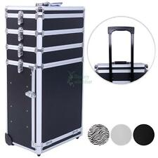 Pro 4in1 Aluminum Rolling Makeup Cosmetic Train Case Wheeled Box Trolley 3 Color