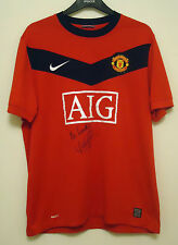 MANCHESTER UNITED  FOOTBALL SHIRT BY NIKE  SIZE L SIGNED BY LEE SHARPE