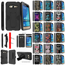 For Samsung Galaxy J3 J310 J320 Stand Clip Dual Layer Protective Shock Case