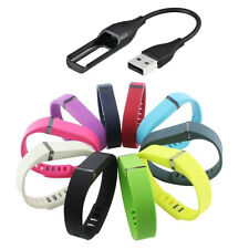 Replacement Wrist Band With USB Charger Cable For Fitbit Flex Bracelet w/ Clasp