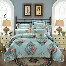 800TC Oriental Quilt Doona Duvet Cover Set King Queen Size Bed Sheets Set New