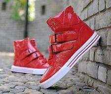 Mens Fashion Sneakers High Top Athletic Breathable skate board Buckle sport Shoe