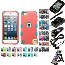 For Apple iPod Touch 5th 6th Gen Hybrid TUFF IMPACT Case Hard Cover Accessories