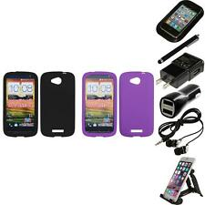 For HTC One VX Silicone Skin Rubber Soft Case Phone Cover Accessories