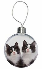 Black and White Kittens Christmas Tree Bauble Decoration Gift, AC-199CB