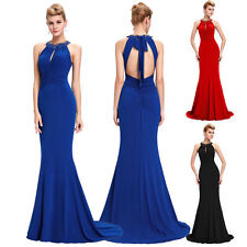 Mermaid Long Evening Elastic Halter Dress Cocktail Prom Party Bridesmaid Gowns'