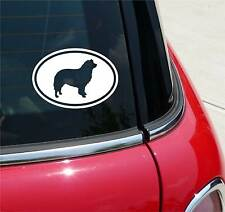 BORDER COLLIE COLLIES DOG GRAPHIC DECAL STICKER ART CAR WALL EURO OVAL