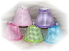 Gingham Checks Mini Chandelier Sz Lamp Shades*Purple Blue Green Lt Pink Hot Pink