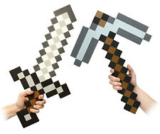 MINECRAFT style Mosiac Large Iron Sword Pickaxe Set EVA Foam UK Free P&P